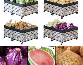Fruit-Vegetable display racks 3D model