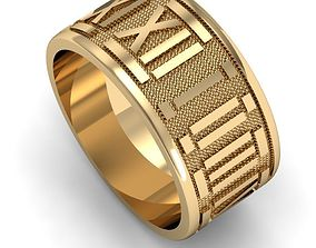 ring with roman numerals 3D print model