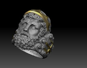 3D printable model poseidon ring greek god myth