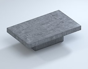 3D model Blok Concrete Rectangle Outdoor Coffee Table