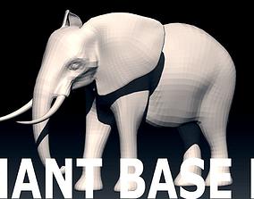 3D model Elephant Base Mesh from Valeanu Andrei