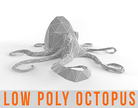 Octopus Low Poly Squid Lowpoly Kraken Tentacle 3D asset