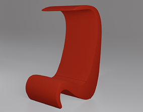 3D model Amoebe Armchair High-back