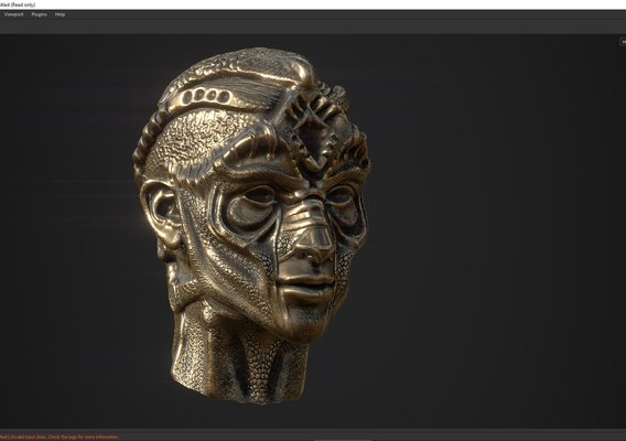 character head desing concept low poy PBR material Low-poly 3D model