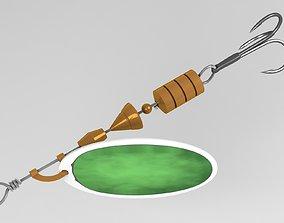 3D Fishing spoon twirl bait