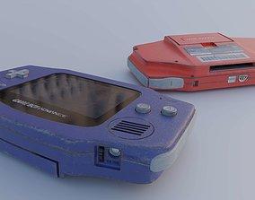 3D model Gameboy Advance Console