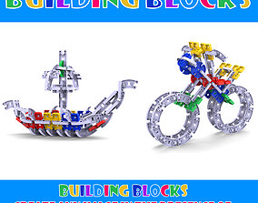 3D printable model building blocks toy