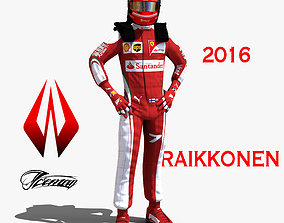 Kimi Raikkonen 2016 3D model