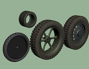 3D WWII Truck wheels and tyres