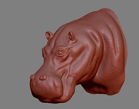 3D printable model Hippopotamus Head
