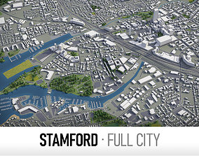 3D model Stamford - city and surroundings
