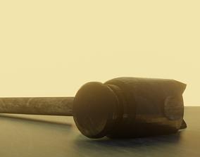 3D model steel Hummer