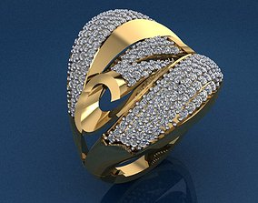 Gold Ring 3D print model 3D print model fashion-ring