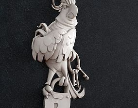 3D printable model parrot