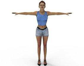 FBX Street Women Female Mom Mature 3D model