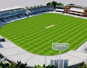 Lords Cricket Ground - London 3D asset