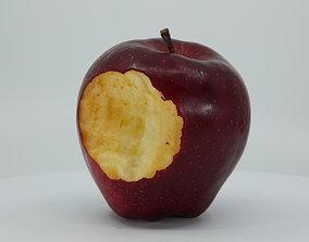 3D asset Realistic - Red Apple Bitten