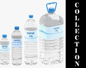 3D model 4 Water Bottles Collection