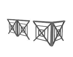 3D black Railing Modular VR / AR ready