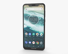 3D model Motorola One Power Midnight Black
