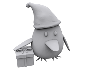 Penguin gift 3D print model printing