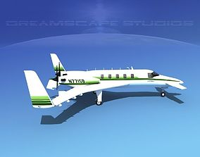 Beechcraft Starship 2000 T11 3D model