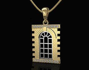 Classic Window Pendant 3D printable model medallion