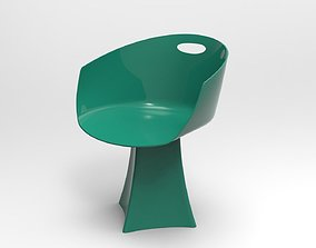 A-Class plastic chair 3D model