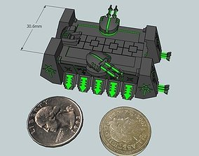 3D print model 6mm DeathBot War-Barge