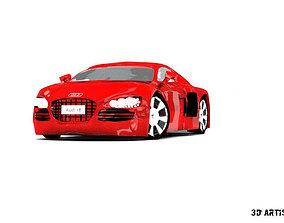 Realistic Audi r8 car model 3D
