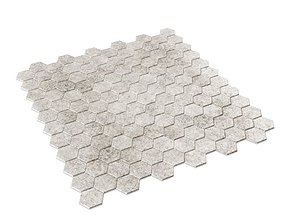 Hexagon Mosaic Tile 3D