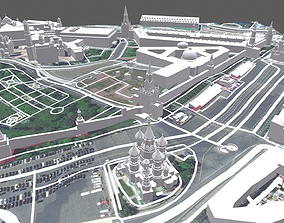 Cityscape Moscow Kremlin 3D