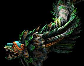 3D model rigged Quetzalcoatl God