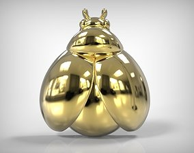 Jewelry Golden Part Lady Bug Shaped 3D printable model