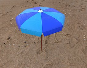 Beach Umbrella Pack 3D asset