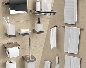 Bathroom accessories Grohe Selection Cube 3D