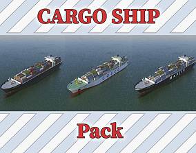 Caro Ship Pack 3D asset