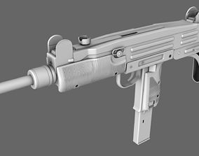 SMG UZI Machine Gun 3D model