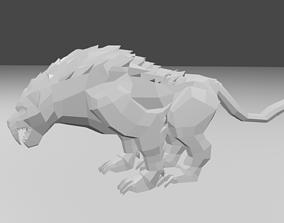 3D model Tiger jungle
