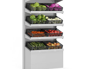 3D model Market Shelf - Vegetables