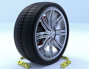 3D model ORTAS CAR RIM 32 GAME READY RIM TIRE AND DISC