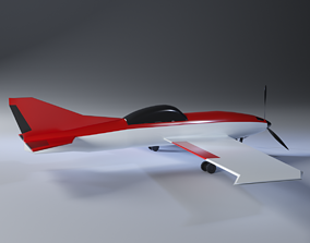Toy airplane 3D model VR / AR ready