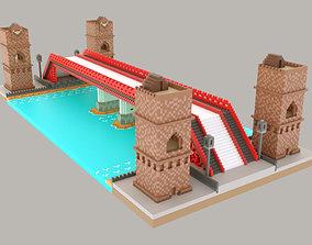 Pixel Bridge 3D print model 3D asset