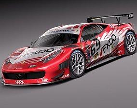 3D Ferrari 458 GT3 Race Car 2014