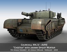 3D model Churchill MK IV AVRE - Cheetah
