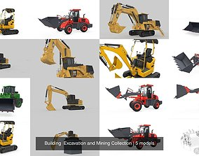 3D model Building Excavation and Mining Collection