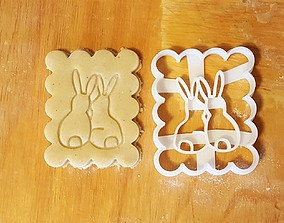 Bunnies Cookie Cutter 3D print model