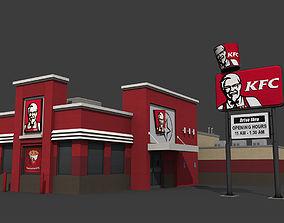 3D asset KFC Restaurant