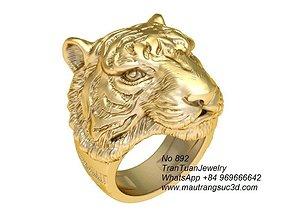 3D print model 892 Tiger Ring