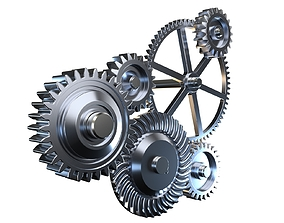 Gear mechanism v1 3D model